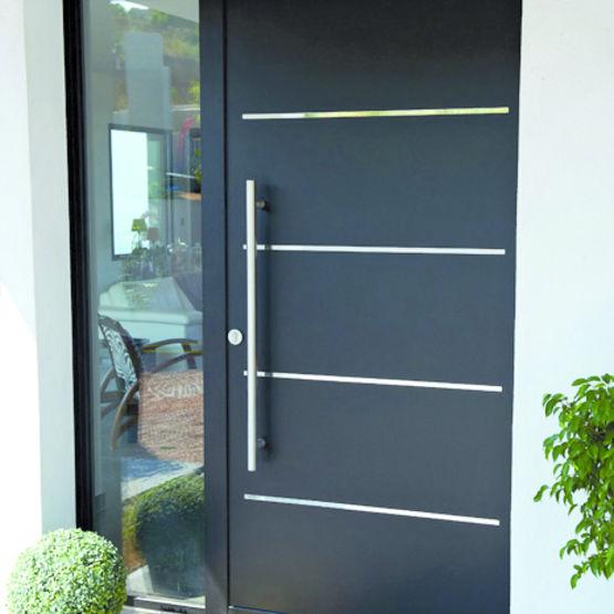 Porte d'entrée en aluminium aux meilleurs prix